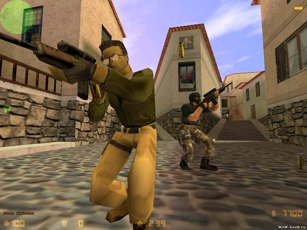 В Counter Strike - за террористов